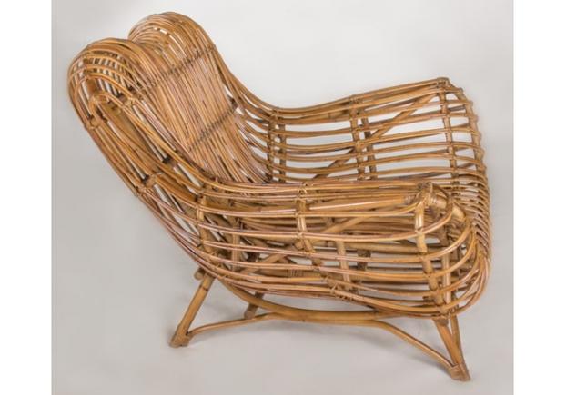 Кресло CRUZO Мадонна натуральный ротанг медовый kr0002 - Фото №2