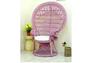 Кресло CRUZO Павлин розовое/натуральный ротанг  - Фото №3