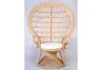 Кресло CRUZO Павлин розовое/натуральный ротанг  - Фото №7