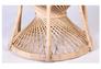 Кресло CRUZO Павлин розовое/натуральный ротанг  - Фото №4