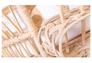 Кресло CRUZO Павлин розовое/натуральный ротанг  - Фото №9