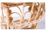 Кресло CRUZO Павлин розовое/натуральный ротанг  - Фото №6