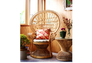 Кресло CRUZO Павлин розовое/натуральный ротанг  - Фото №8