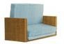 Диван-кровать CRUZO Уго натуральный ротанг с голубым матрасом  - Фото №9
