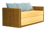Диван-кровать CRUZO Уго натуральный ротанг с желтым матрасом  - Фото №4