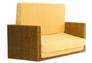 Диван-кровать CRUZO Уго натуральный ротанг с желтым матрасом  - Фото №11