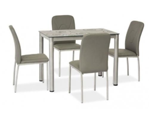Стол обеденный Signal Damar 80*60*h75 см серый - Фото №1