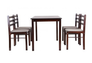 Комплект обеденный Брауни (стол+4 стула) темный шоколад/латте - Фото №10