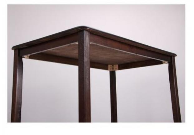 Комплект обеденный Брауни (стол+4 стула) темный шоколад/латте - Фото №2