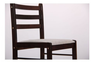 Комплект обеденный Брауни (стол+4 стула) темный шоколад/латте - Фото №4