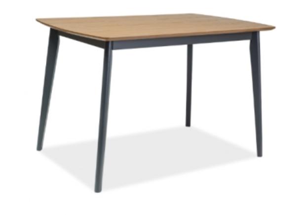 Стол обеденный Signal Vitro 120*75*h75 см дуб/графит - Фото №1