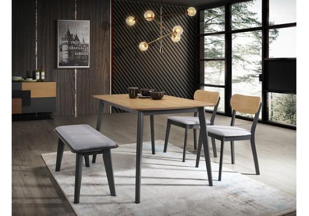 Стол обеденный Signal Vitro 120*75*h75 см дуб/графит - Фото №2