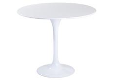 Фото Стол обеденный деревянный Тюльпан d 60*h73 см белый