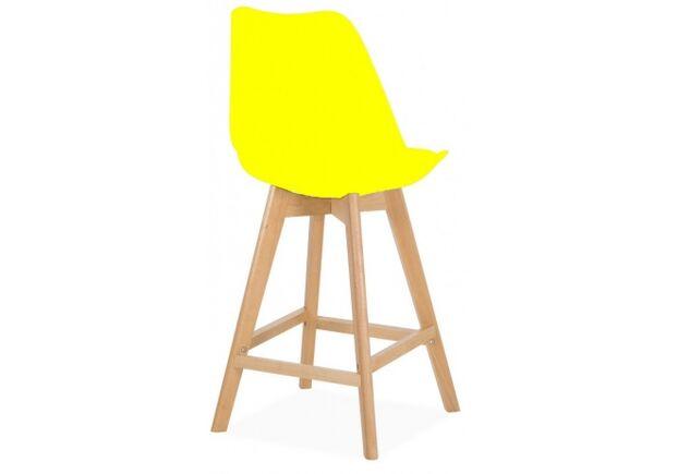 Барный стул Элиос сиденье желтый пластик с подушкой/ножки бук - Фото №2