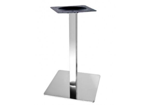 Опора для стола Кама нержавеющая сталь h72 см основание 50 см - Фото №1