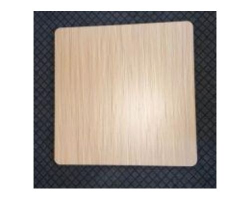 Столешница квадратная Эльба-N HPL 80*80 см толщина 25 мм цвет натуральный дуб - Фото №1