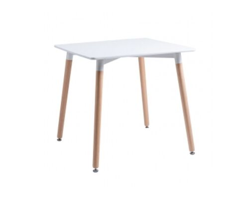 CUADRADO Стол обеденный Квадро с белой столешницей 800*800*h760 мм - Фото №1