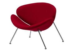 Фото Мягкое кресло для лаунж зон FOSTER (Фостер) из ткани красная