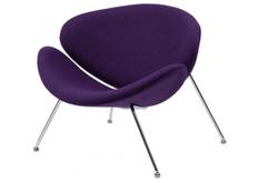 Фото Мягкое кресло для лаунж зон FOSTER (Фостер) из ткани фиолетовая
