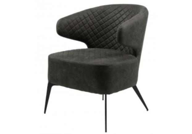 Кресло для лаунж зон Keen (Кин) нефтяной серый - Фото №1