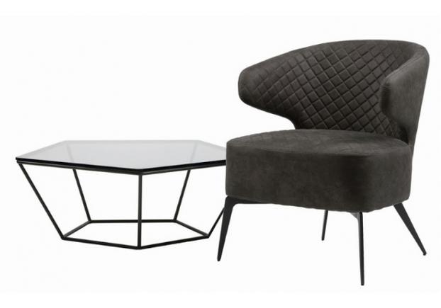 Кресло для лаунж зон Keen (Кин) нефтяной серый - Фото №2