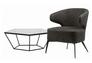 Кресло для лаунж зон Keen (Кин) нефтяной серый - Фото №3