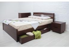 Фото Кровать деревянная с ящиками Ликерия-Люкс 180x200 см венге