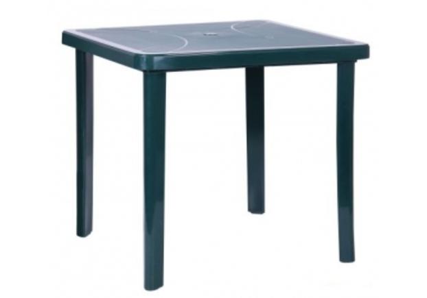 Стол Nettuno 80х80 см пластик зеленый  - Фото №1