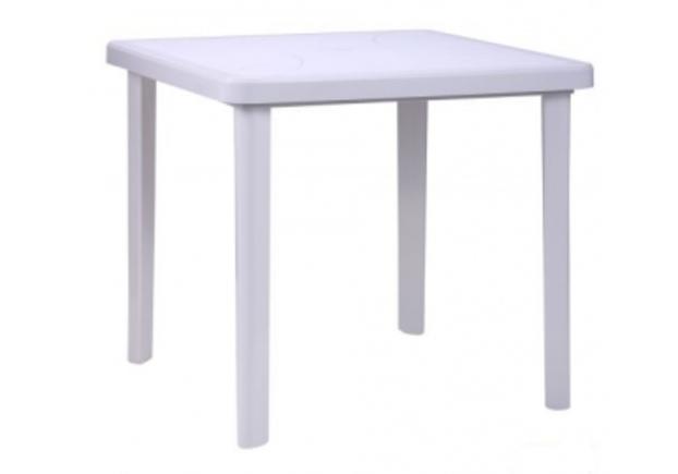 Стол Nettuno 80х80 см пластик белый  - Фото №1