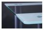 Стол Аттика 1200*800*750 каркас алюминий/стекло прозрачное с белой полосой  - Фото №7
