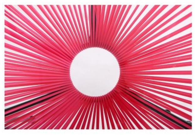 Стол Agave каркас черный/ротанг розовый - Фото №2