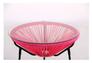 Стол Agave каркас черный/ротанг розовый - Фото №8