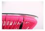 Стол Agave каркас черный/ротанг розовый - Фото №5