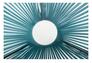 Стол Agave каркас черный/ротанг голубой - Фото №5