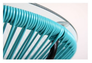 Стол Agave каркас черный/ротанг голубой - Фото №3