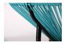Стол Agave каркас черный/ротанг голубой - Фото №2