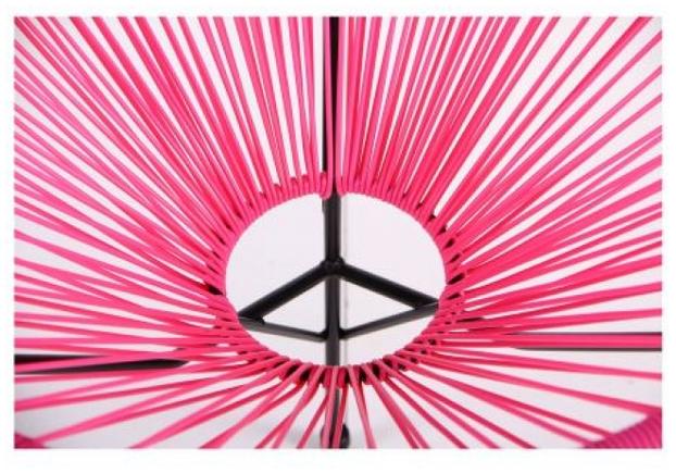 Стул Acapulco каркас черный/ротанг розовый - Фото №2