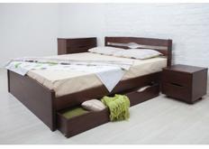 Фото Кровать деревянная с ящиками Ликерия-Люкс 160x200 см темный орех