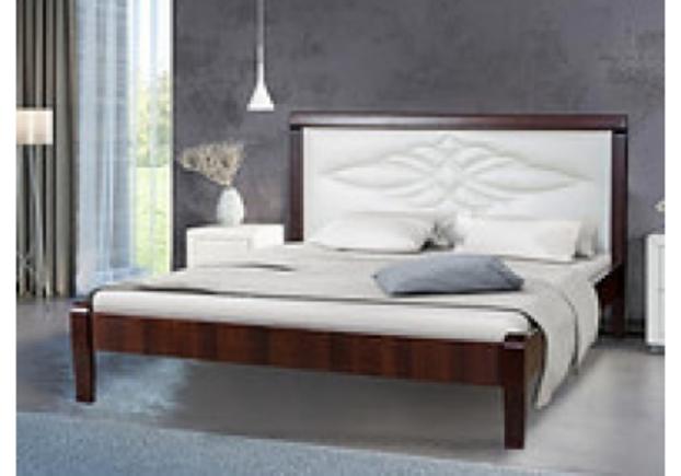 Фото Кровать с мягким изголовьем Скиф 160*200 см  темный орех