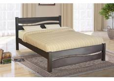 Фото Кровать деревяння двуспальная Волна 160*200 см темный орех