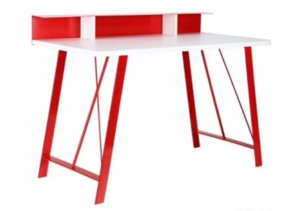 Компьютерный стол Mayakovsky красный/белый - Фото №1