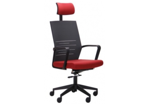 Кресло Nitrogen HB графит/бургунди - Фото №1