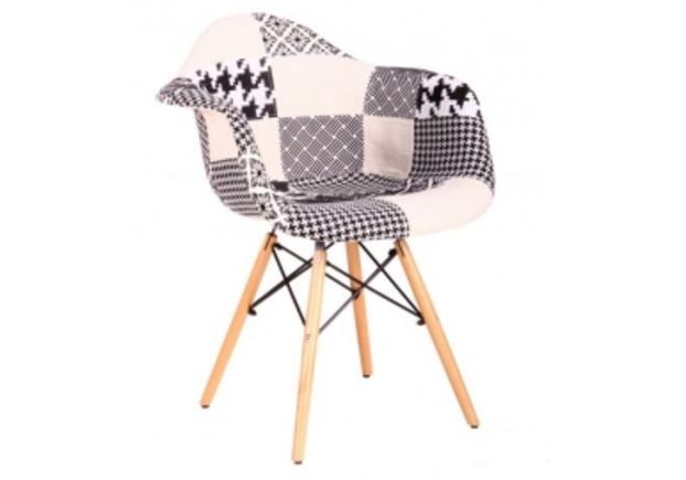 Кресло Salex FB Wood Patchwork черно-белый - Фото №1