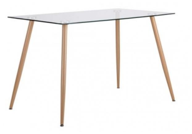 Стол обеденный Умберто бук/стекло прозрачное - Фото №1