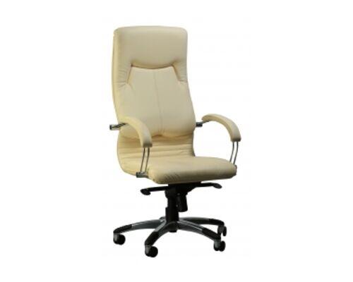 Кресло Ника HB хром кожа Люкс комбинированная крем-брюле - Фото №1
