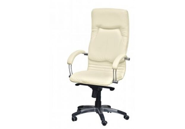 Кресло Ника HB хром кожа Люкс комбинированная крем-брюле - Фото №2