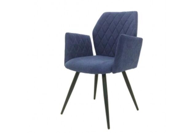 Кресло обеденное GLORY (Глори) ткань синяя - Фото №1