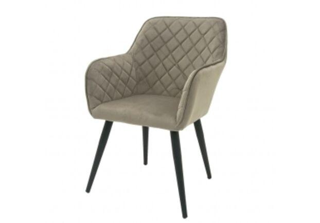 Кресло обеденное ANTIBA (Антиба) ткань пудровая серая - Фото №1