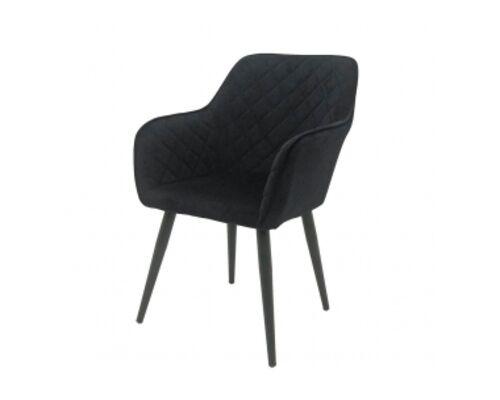 Кресло обеденное ANTIBA (Антиба) ткань черная - Фото №1
