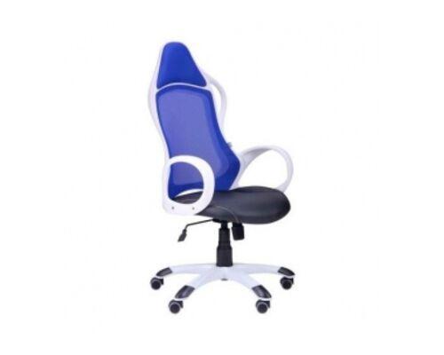 Кресло Nitro каркас белый кожзам сиденье Неаполь спинка Сетка - Фото №1
